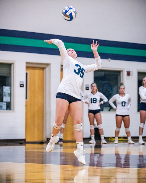 Endicott College Women's Volleyball takes on Emerson College Lions at MnDonald Gymnasium on October 22nd, 2019.