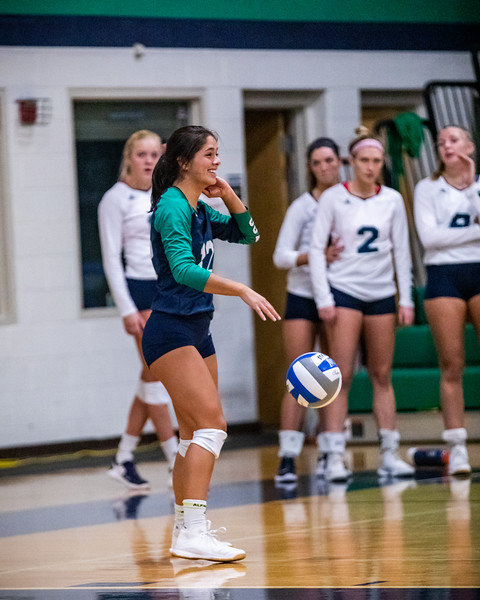 Endicott College Women's Volleyball takes on Curry College Colonels at MacDonald Gymnasium on October 26th, 2019.