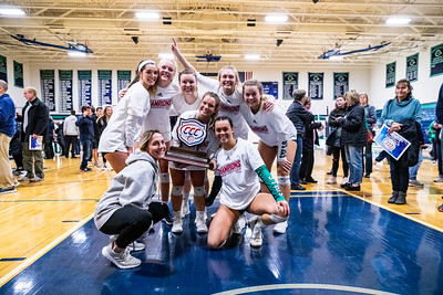 Endicott College Women's Volleyball takes on the Roger Williams Hawks for the CCC Championship on November 9th, 2019.