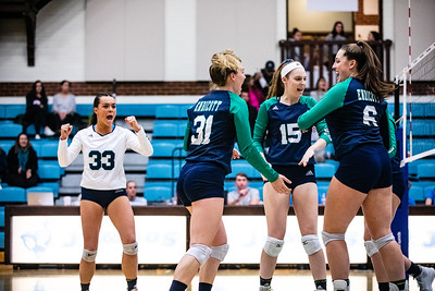 Endicott College Women's Volleyball takes on the Bowdoin Polar Bears at Tufts University on November 15th, 2019.