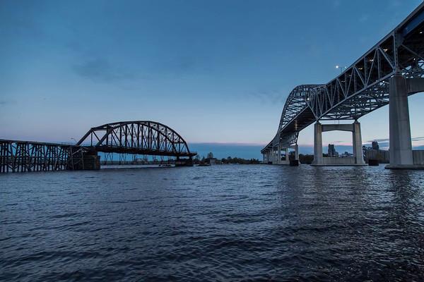Blatnik Bridge and Interstate Fishing Pier