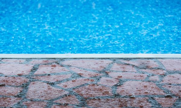 Rain at the pool