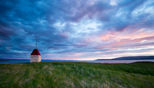 Icelandic hillside Worship at Midnight