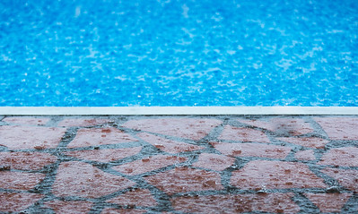 Rain at the pool