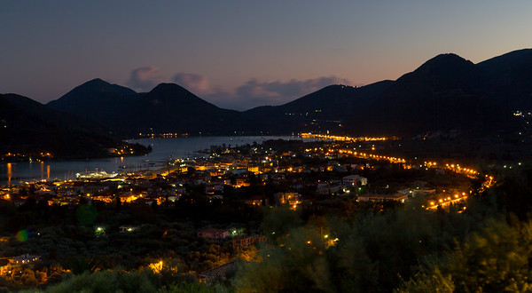 Lefkada at night