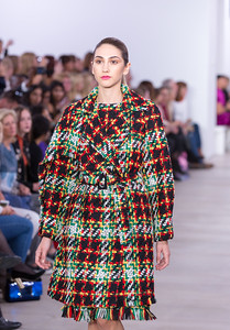 Tartan Knit Coat