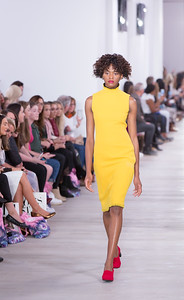 Yellow Dress - Red Shoes