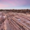 Stripy Rocks at Sunset