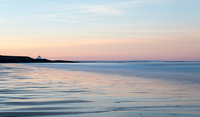 Bamburgh Lighthouse Sunset