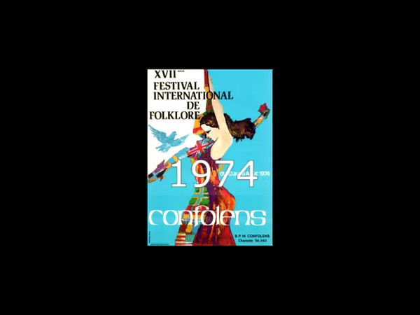 17 Festival International de Folklore. Confolens 1974