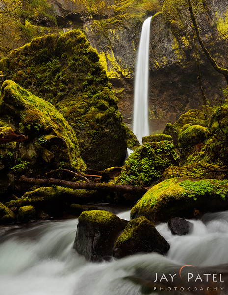 Elowah Falls, Columbia River Gorge, Oregon (OR), USA