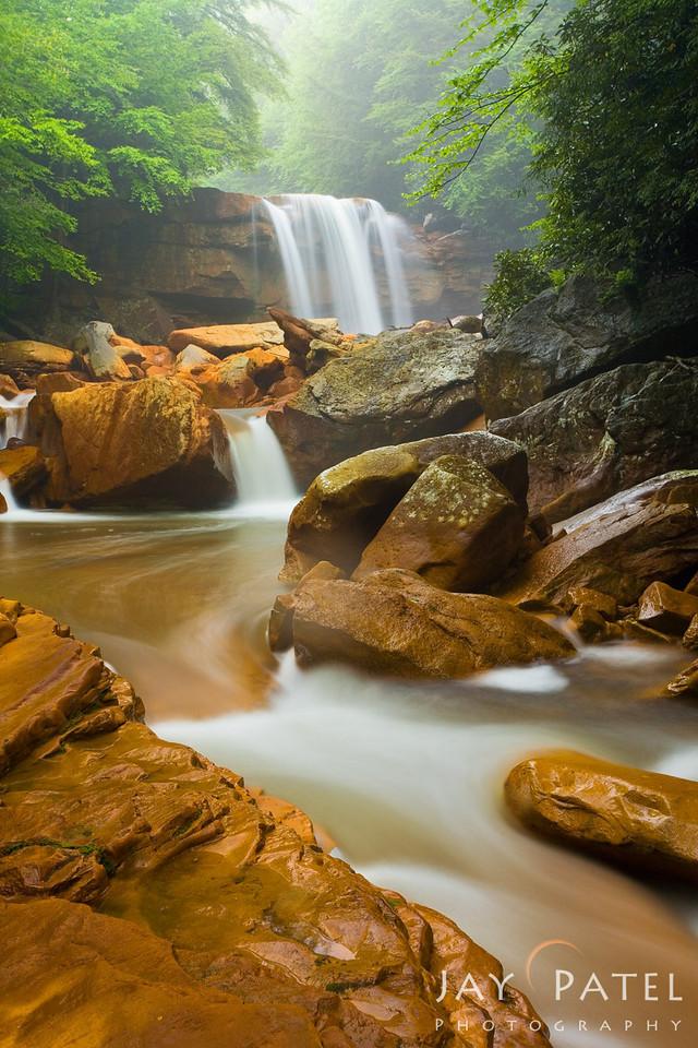 Douglas Falls, Blackwater Falls, West Virginia (VW),  USA