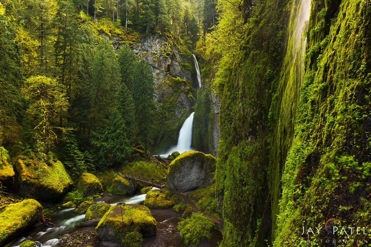 Wacllela Falls, Columbia River Gorge, Oregon (OR), USA