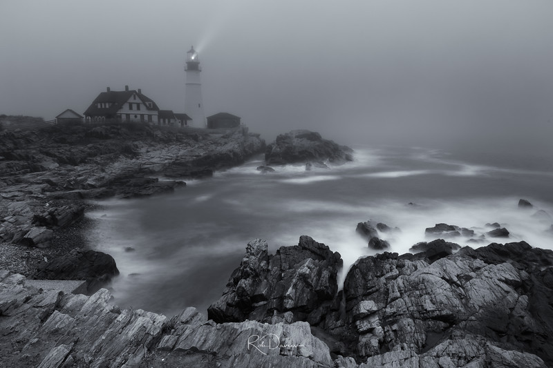 Portland Head Lighthouse in the Fog