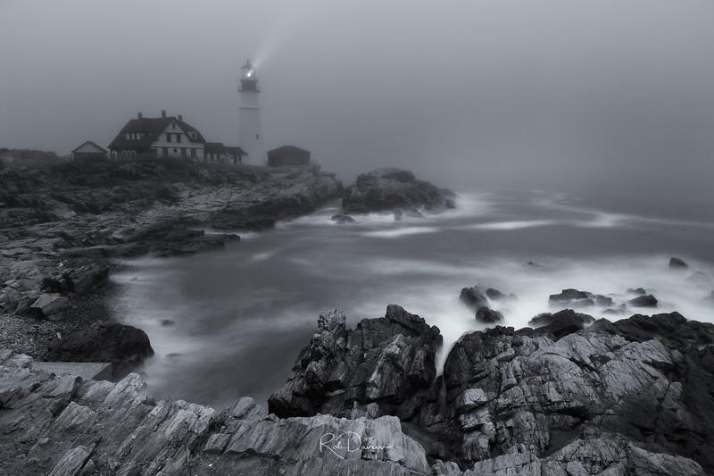 Portland Head Lighthouse in the Fog