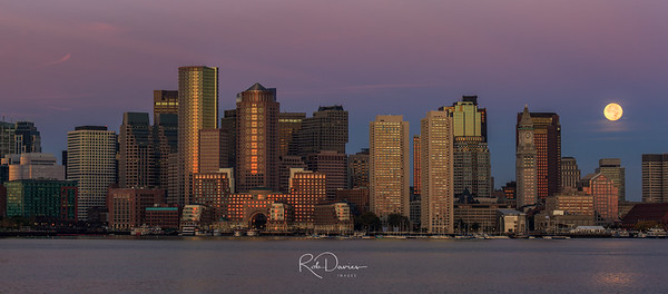 Boston Moonset