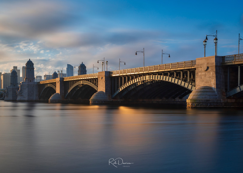 Longfellow Bridge in Gold