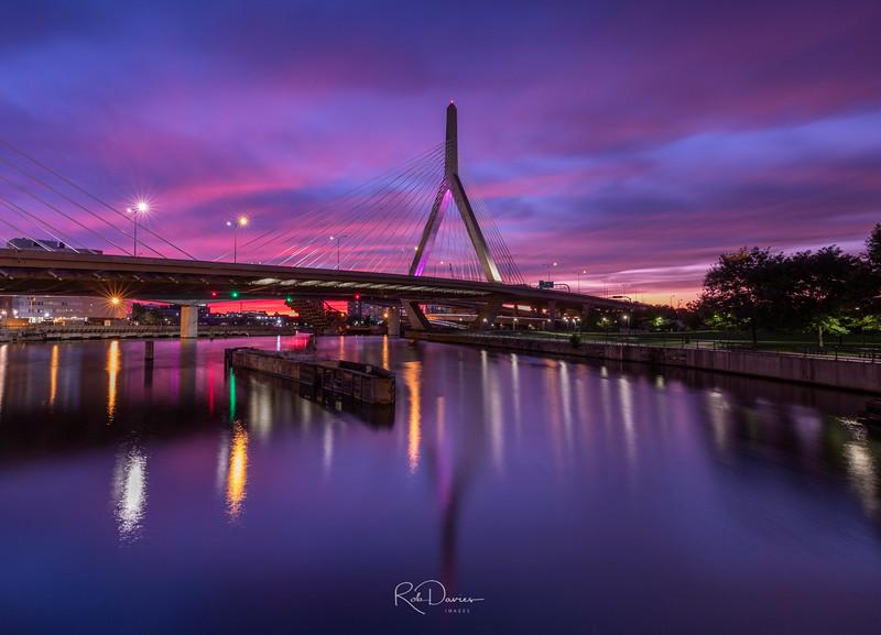 Zakim Bridge at Sunset
