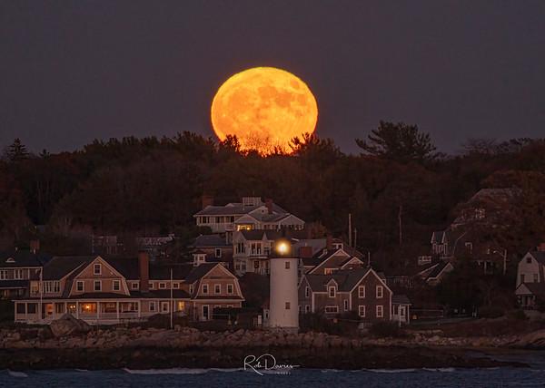 Moonrise over Annisquam Lighthouse