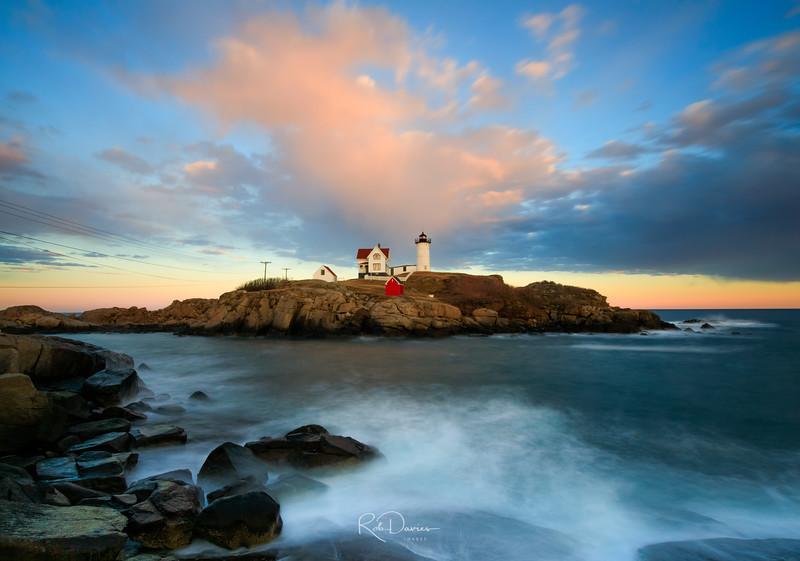Nubble Lighthouse at Sunset