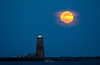 Moon-rise over the lighthouse