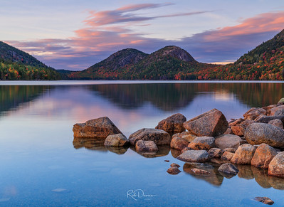 Jordan Pond at Sunset