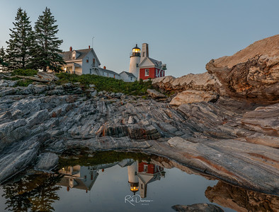 Pemaquid Point Light Reflections