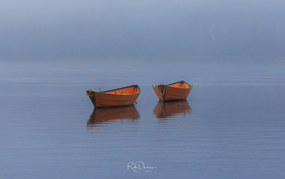 Dory Boats in the Fog