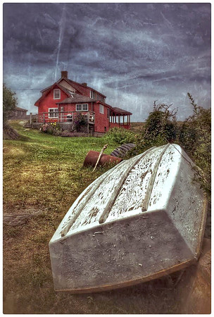 White Dory, Red House, Maine