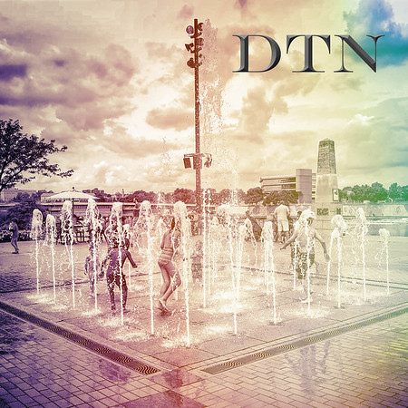 DTN fountain at Riverscape