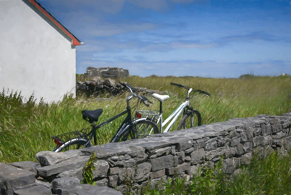 Rest Awhile, Aran Islands, painterly