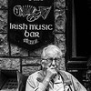 Quiet Observer at Taaffes, Galway, BW