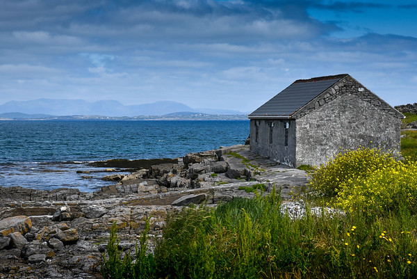 Stone Cottage, by the Sea, color