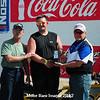 Shawn England, Pierre, Winner, Coca Cola Diesel Services Inc Bike  Points Race #3, w/ bike owner and series sponsor, Randy Nixon (l)
