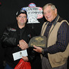 Brian Brossart, Lead, SD, Class Champion, 2013 Coca Cola Street Trophy division, with Milton Morris, Oahe Speedway track owner