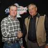 Brian Brady, Pierre, SD, 4th place, 2013 Coca Cola Sportsman division, with Milton Morris, Oahe Speedway track owner