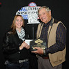 Ashley Holm, Pierre, SD, Class Champion, 2013 Coca Cola Sportsman division, with Milton Morris, Oahe Speedway track owner.<br /> Ashley was our 2009 Junior Dragster division co-champion.