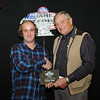 Sonnie Boke, Gettysburg, SD, Runner Up, 2013 Coca Cola Sportsman division, with Milton Morris, Oahe Speedway track owner