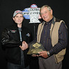 Joe Harry, Ferney, SD, Class Champion, 2013 Coca Cola Pro ET division, with Milton Morris, Oahe Speedway track owner.