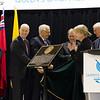 Official unveiling of the Historical British Empire Plaque, May 2, 2014 at the Scott Park Arena, Hamilton, Ontario