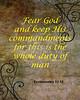 Fear God and keep His Commandments Ecclesiastes 12 13 1053.02