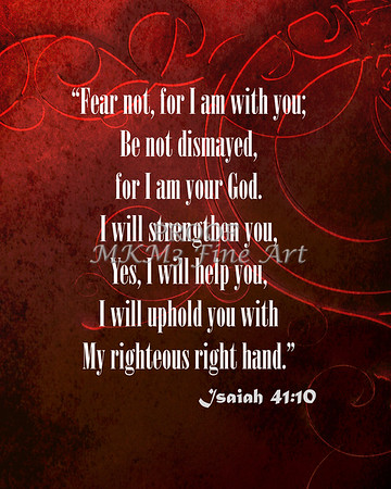 Isaiah 41:10 Fear not, for I am with you_1035