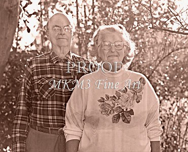 Mr.. & Mrs. Pearly Miller Brother of Mac Kendree Miller Sr. Picture Taken 1970s