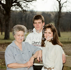 This picture is of the Jimmy Hudson family on Christmas day 1986.  They were taken at Jimmy and Carol's ranch south of Athens.  I took the pictures.
