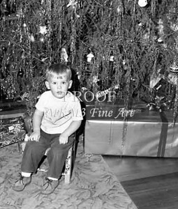 The youngest child always gets the most attention at Christmas and our house was no exception. This is Bryan Hudson.