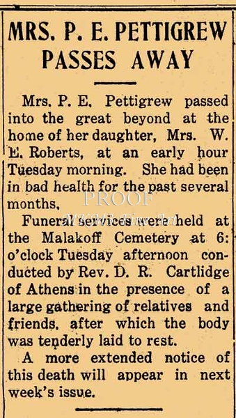 Mac: This is an article from the Malakoff News, Henderson County, Texas, Thursday July 2, 1925.<br /> <br /> I wish I could tell you moe.