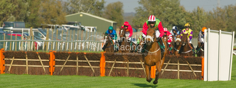 Laterly, Keith Mercer up, leads the Betfred Goals Galore Handicap Hurdle (Class 3)