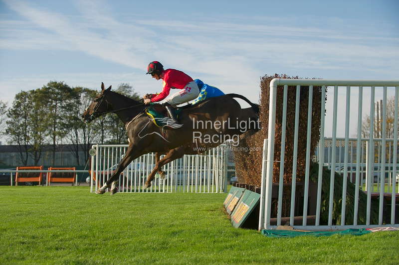Nikola (Fr), Sam Twiston-Davies up at the 2nd from home. He went on to win The Betfred 10 Best Odds in Shops Veterans' Handicap Steeple Chase