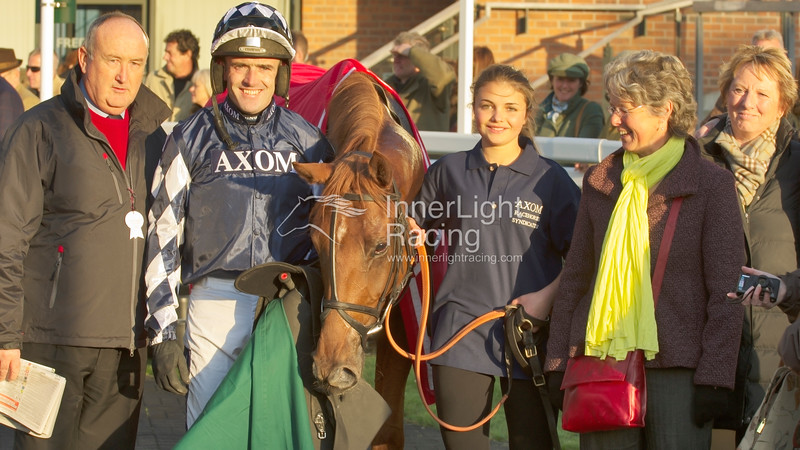 Connections of Edgardo Sol, after winning the Betfred Bundles Novices' Limited Handicap Steeple Chase (Class 3)