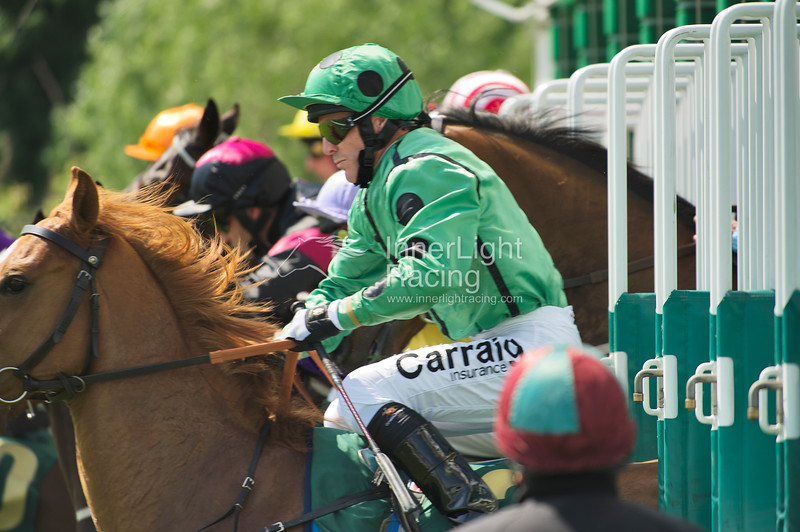 Start of the Manor House Stables Lily Agnes Conditions Stakes. Choice of Remark, (Kieren Fallon) foreground.